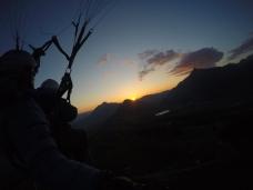 vol parapente coucher de soleil haute-savoie