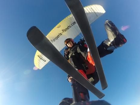 vol parapente en ski Carroz d'araches
