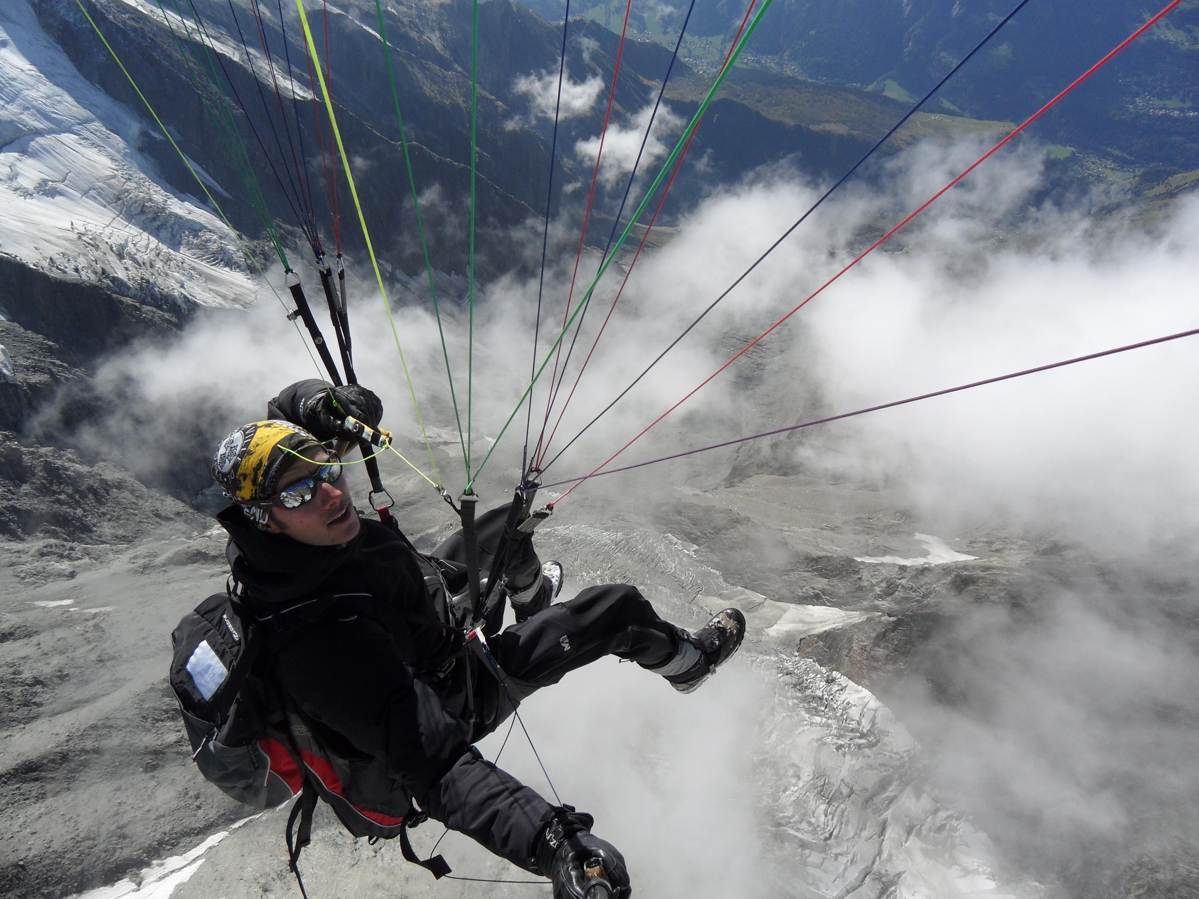 Vol Décollage du Mont Blanc