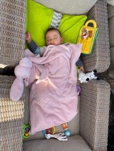 sieste sur la terrasse